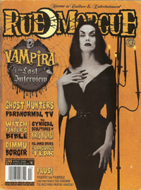 Cover of April 2008 issue of Rue Morgue Magazine