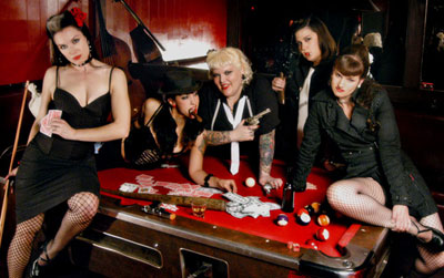 Thee Merry Widows as pool-hall gangsters