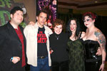Director Kevin Sean Michaels, actor Bill Moseley, editor Alexia Anastasio, actor Debbie Rochon, and fetish model Jezahell Van Horn at Fangoria's Weekend of Horrors in San Jose, California, January 7, 2007.  Photo by Megan Silver.