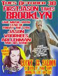 Poster for FIRSTJASON at Lucky 13 Saloon in Brooklyn, October 30, 2007