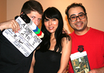 Kevin Sean Michaels, Mae Moreno and Ramzi Abed on the set of A Spiral State