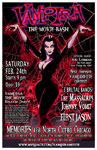 Poster for Vampira: The Movie Bash at Memories in Chicago, Illinois, February 24, 2007
